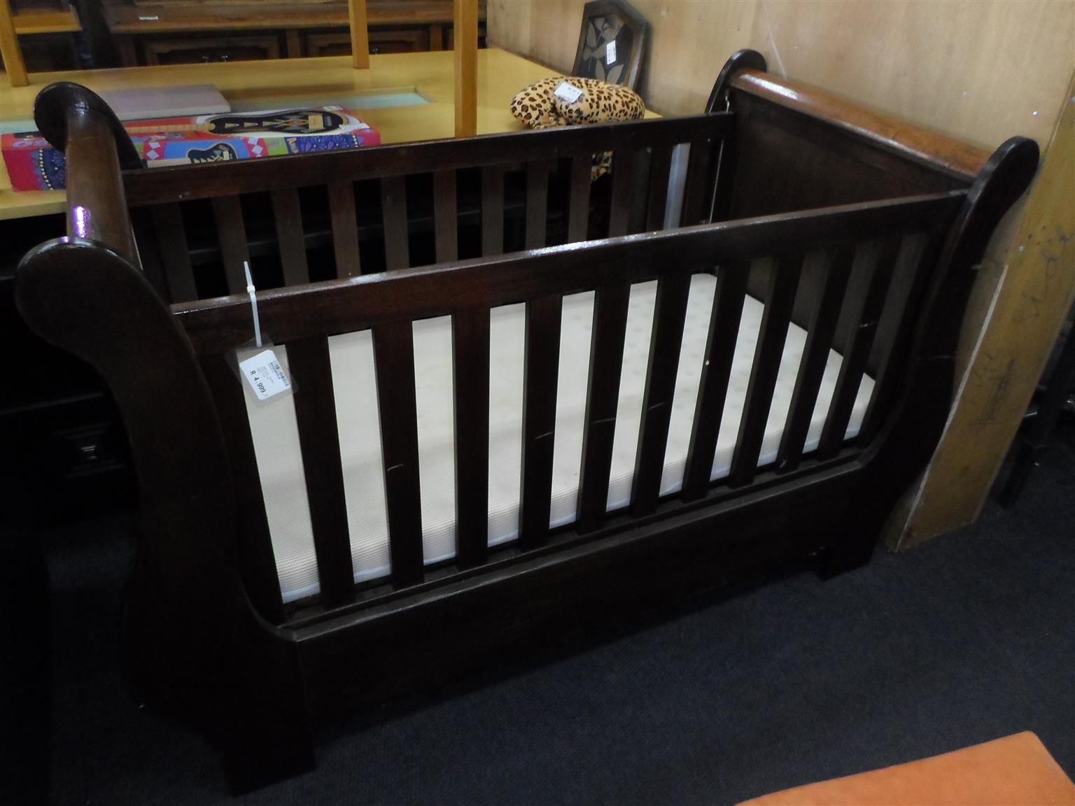 Solid Wooden Baby Cot
