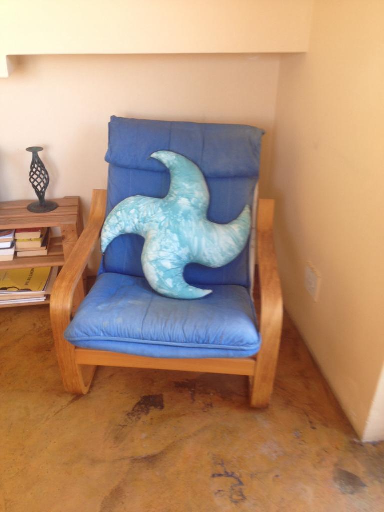 Wooden framed chair
