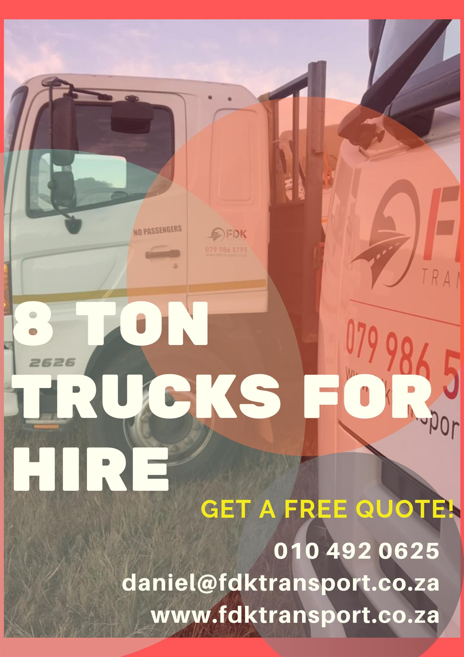 Truck hire and Transport