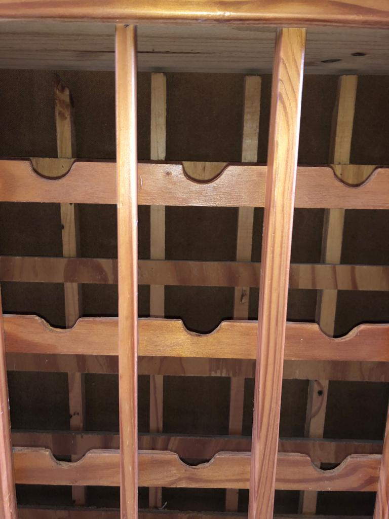 Large freestanding Solidwood wine rack - great man cave decor piece!
