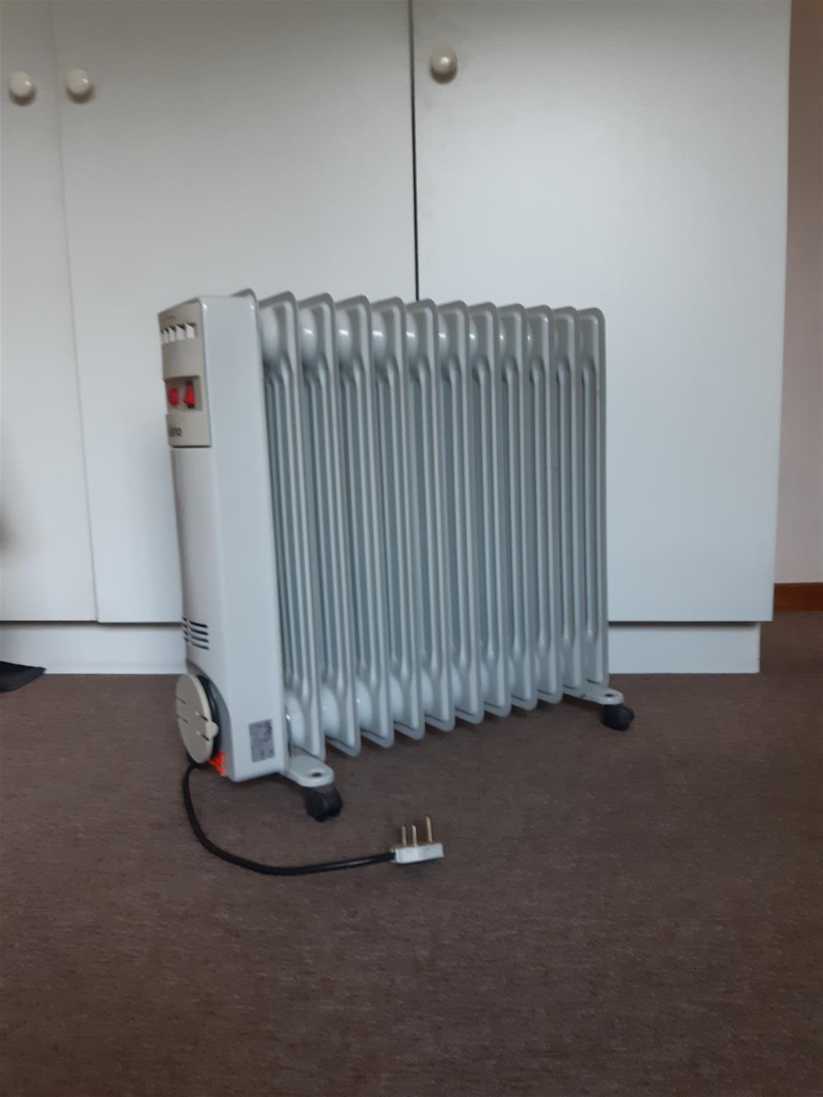 Electric oil 11 fin heater. Used as a stand by unit. Very economical on electricity consumption.