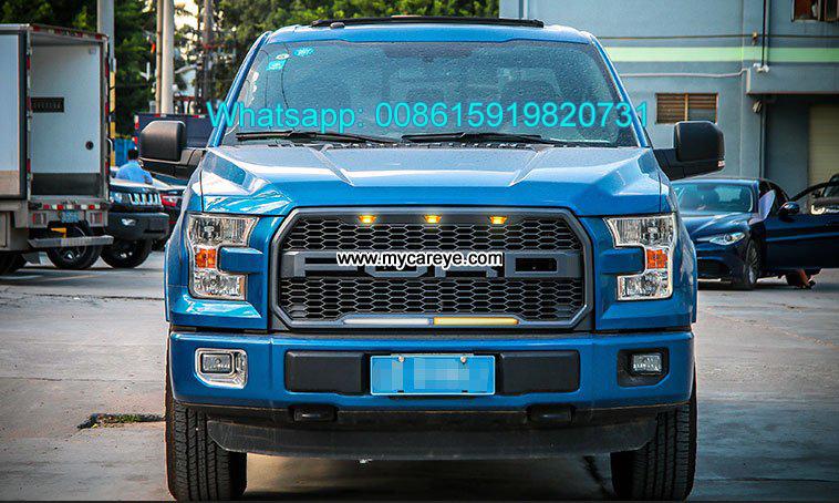 Ford F150 Raptor Style Front Grille Led Lights F 150 Center Mesh Grills