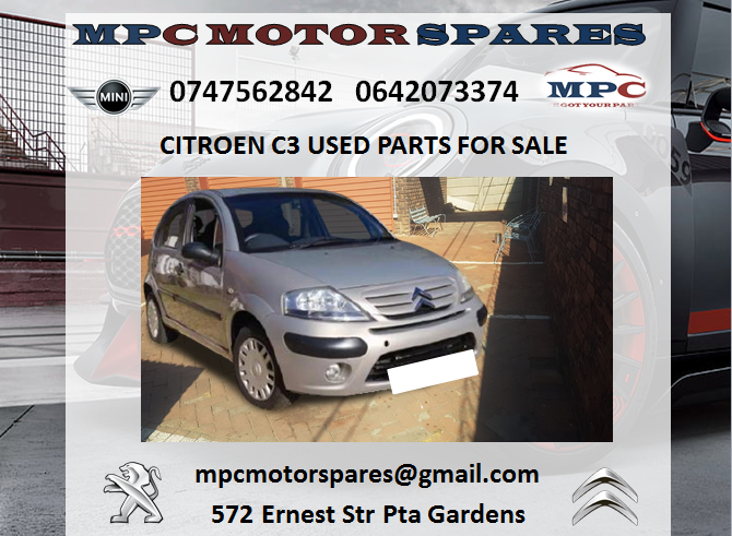 CITROEN C3 USED PARTS FOR SALE