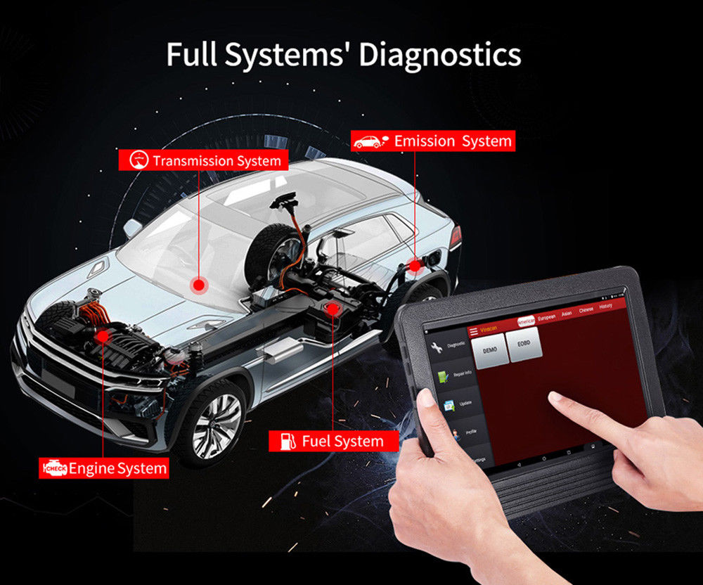 Vehicle Diagnostic tool: new released 2018 Original Launch X431 V 8i Tablet Full Diagnostic System + 2 year free updates
