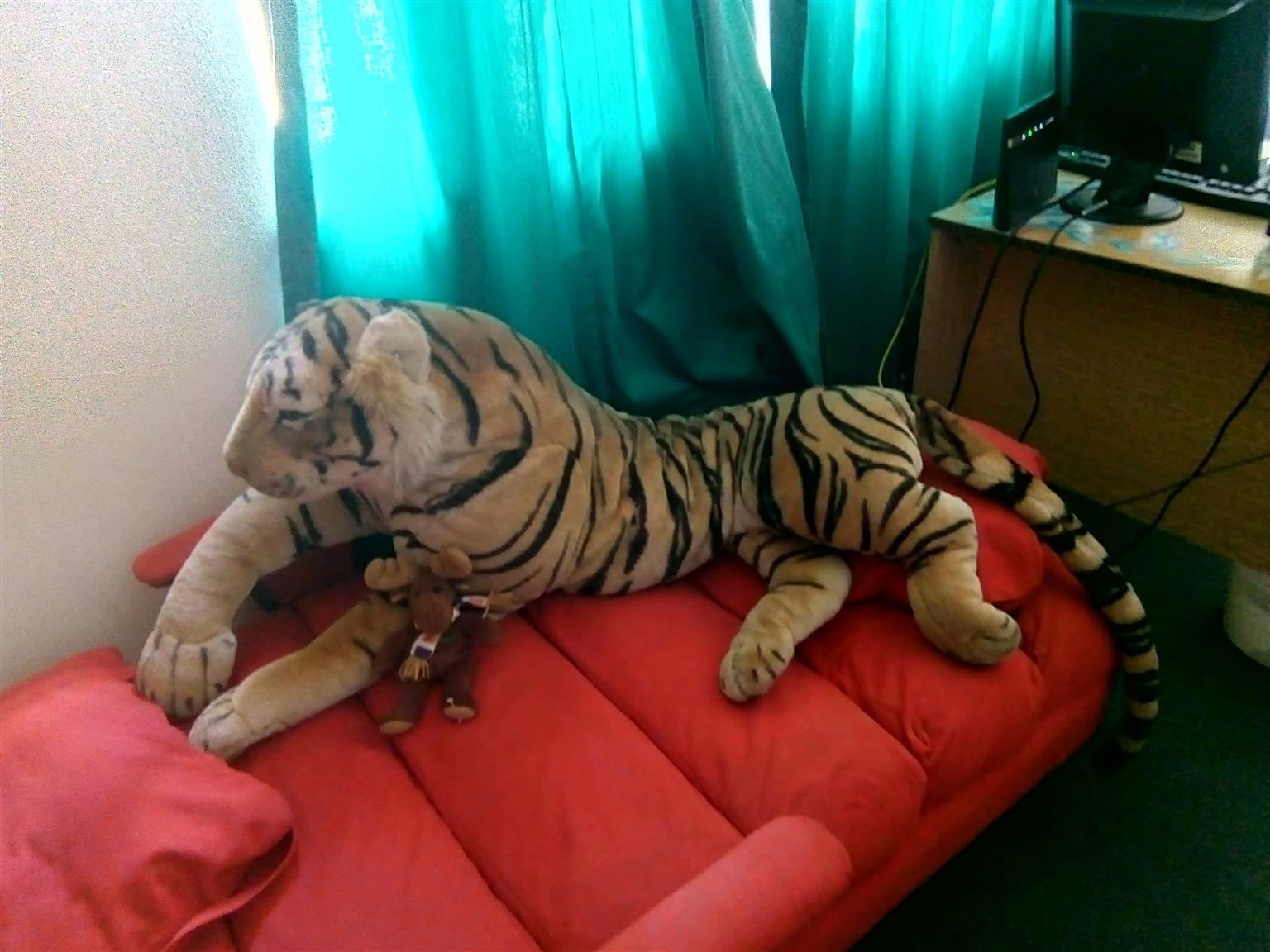 Life sized stuffed tiger