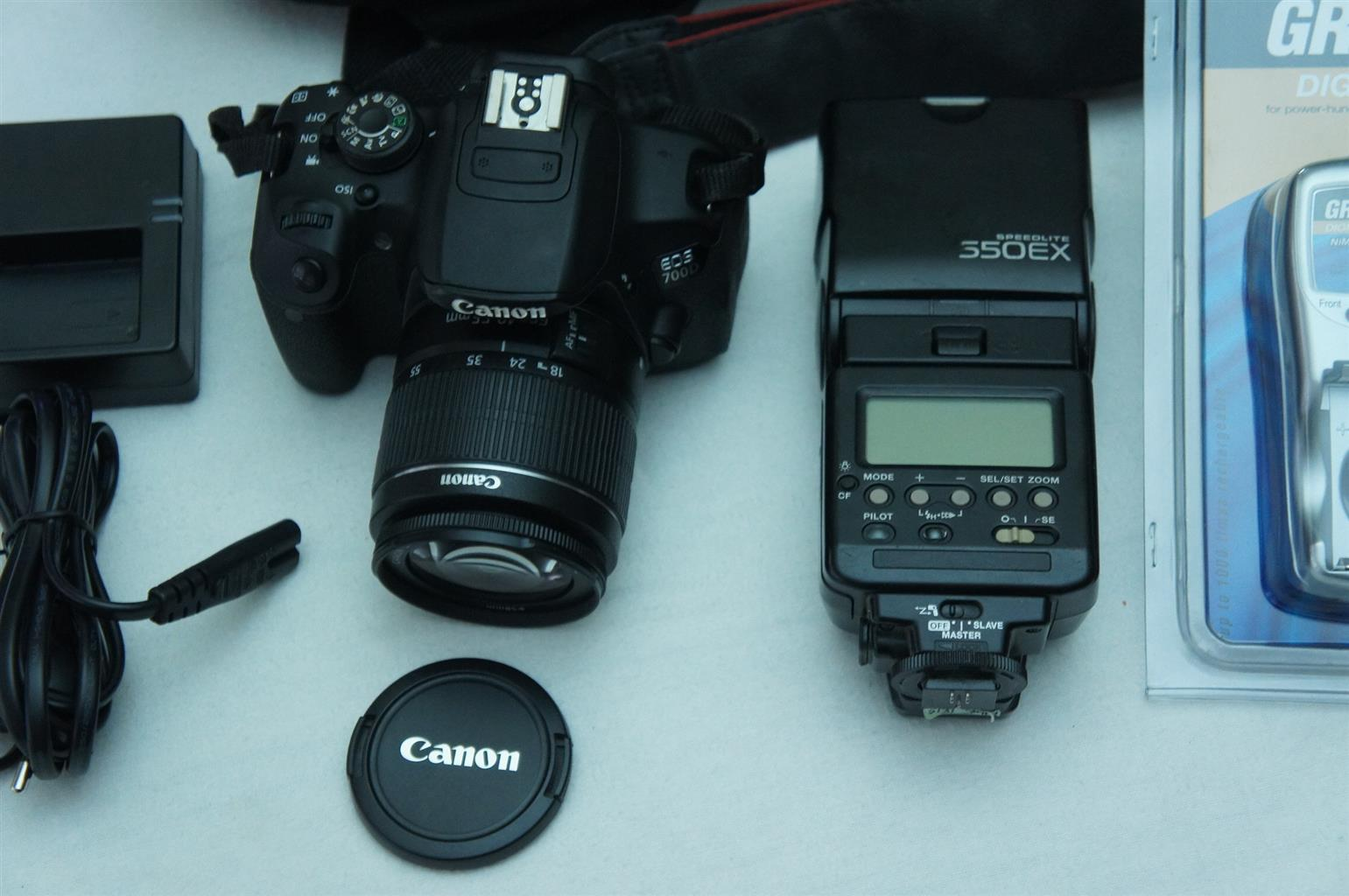 Canon EOS 700D DSLR with Canon 18-55mm and Flash