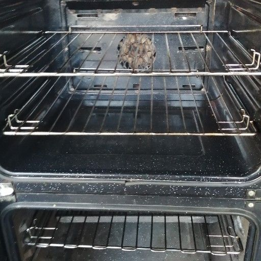 Defy double oven build in with extractor fan