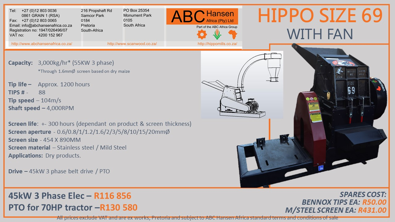 Hippo Size 69 Hammer Mill