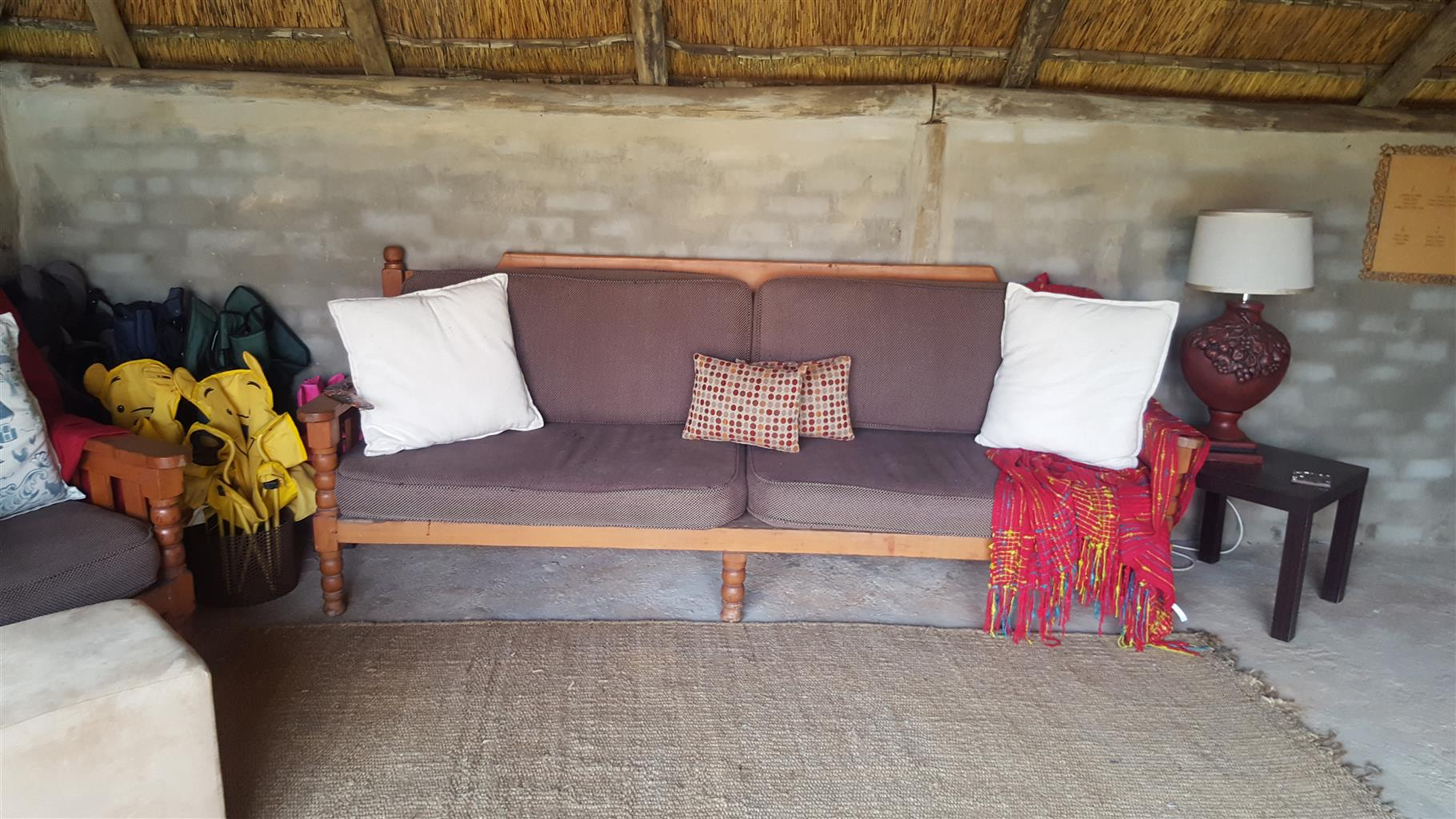 Wooden couch set