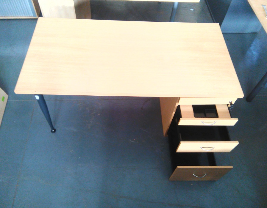 Straight desk with dhp beech wood