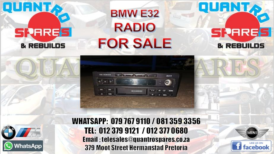 bmw e32 radio for sale
