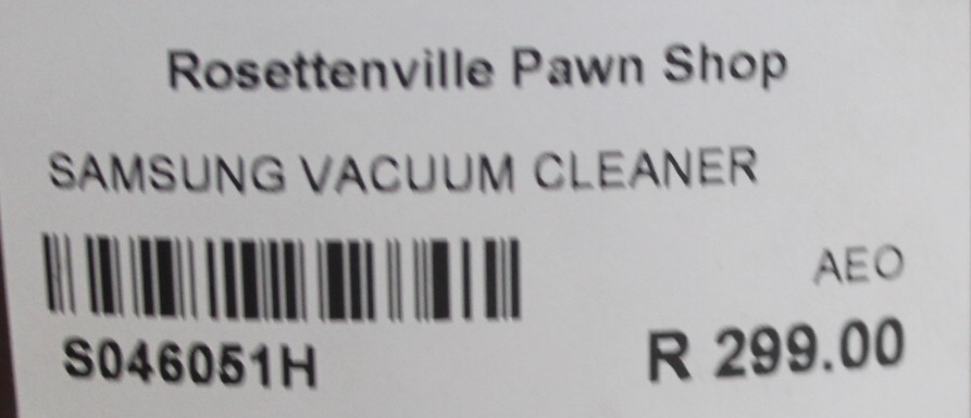 Samsung vacuum cleaner S046051H #Rosettenvillepawnshop