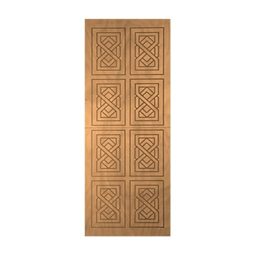 8 Panel Entrance Door (Available in 5 Patterns)