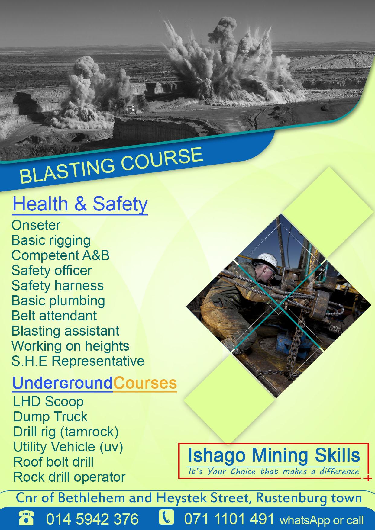 Blasting assistant training center in rustenburg/klerksdorp