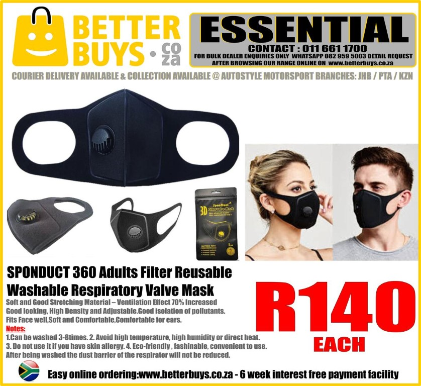 Good isolation of pollutants. Fits Face well Soft and Comfortable Comfortable for ears.