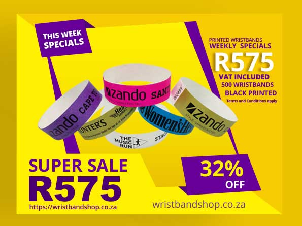 500 Printed Tyvek Special Wristbands Pack