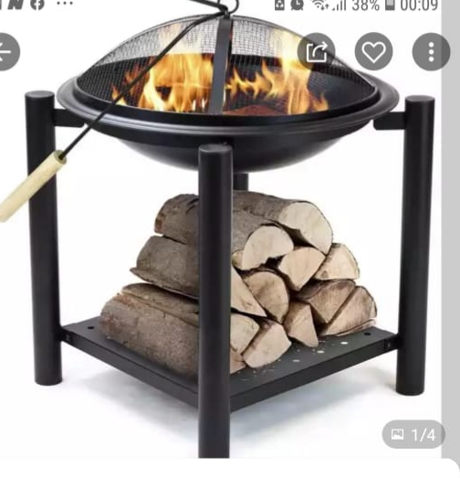I'm selling coal and wood steel stove with heater and picnic Braai stand