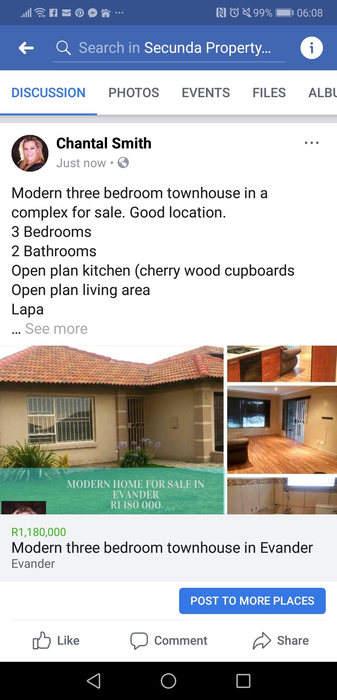 Modern 3 Bedroom Townhouse for sale in Evander