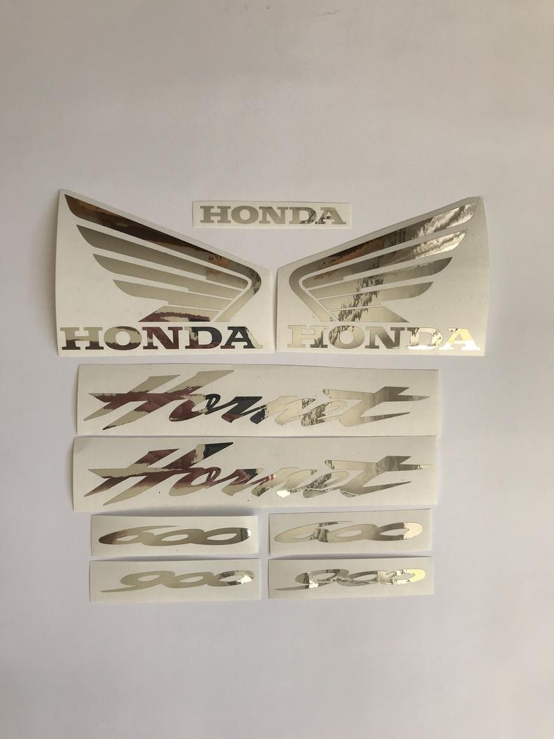 HONDA HORNET 600 - 900 aftermarket custom decals stickers Nickel version