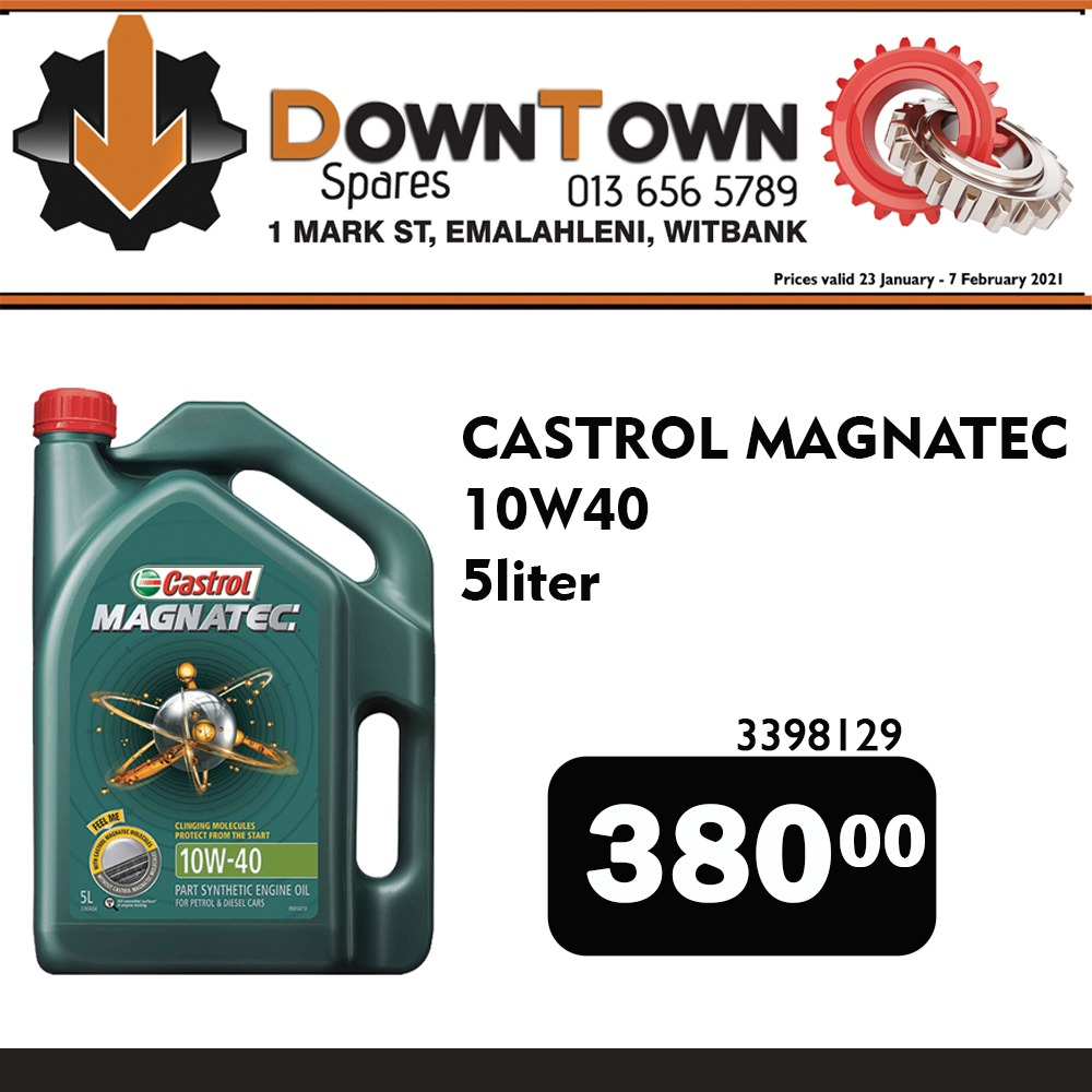 Castrol Magnatec 5 Liter ONLY R380 at Downtown Spares!