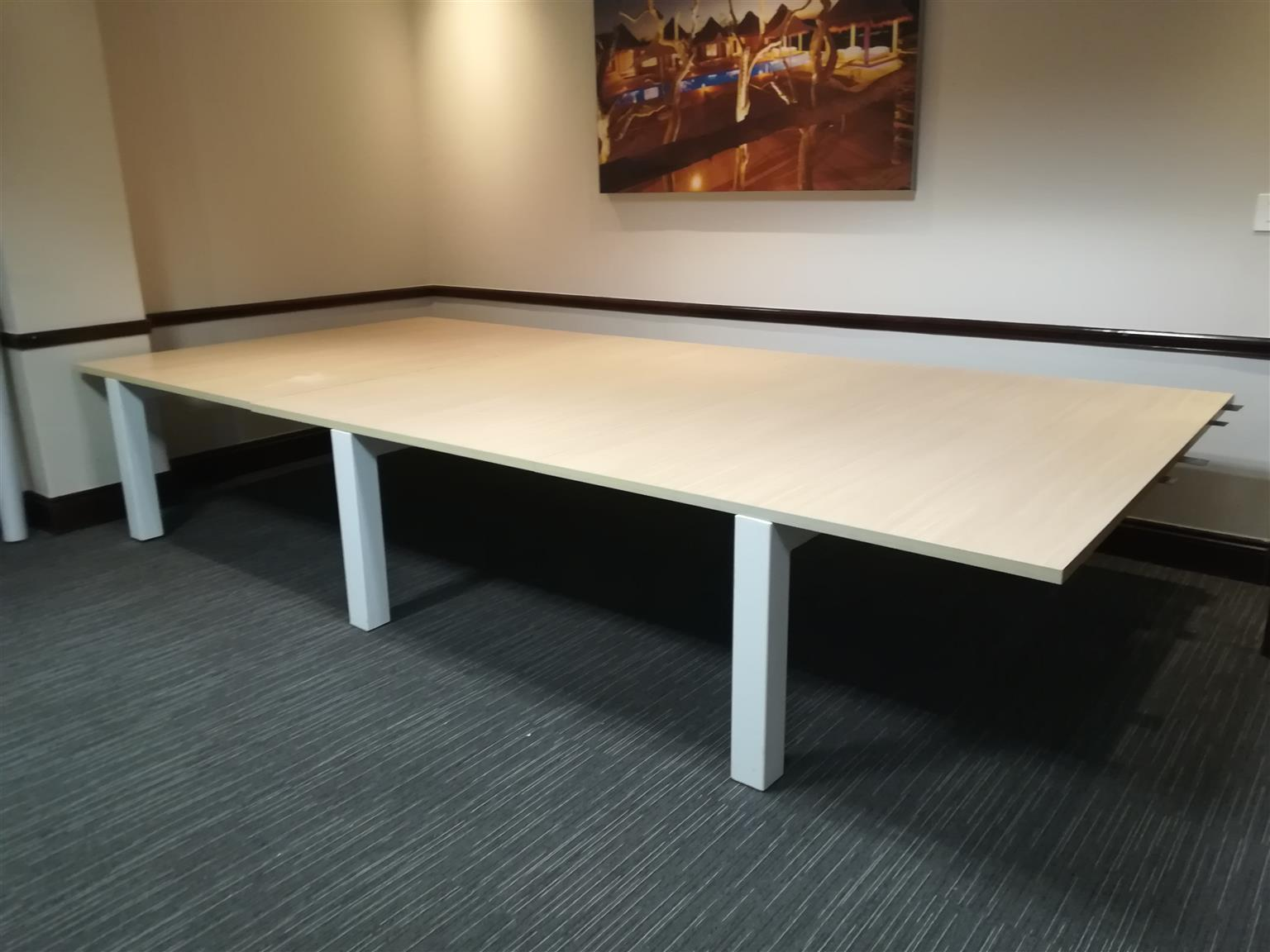 Large Boardroom Table In Excellent Condition Junk Mail - Large boardroom table