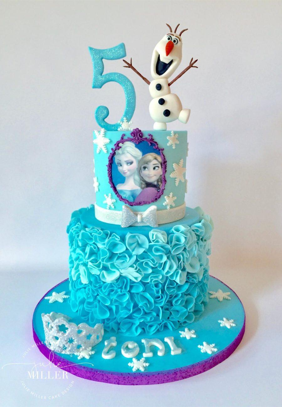 Peachy Baby Shower Frozen 2 Tier Birthday Cakes Anniversary Cakes Funny Birthday Cards Online Alyptdamsfinfo