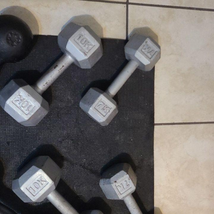 146kg Gym Dumbbells