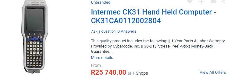 Intermec CK31 Handheld Computer / Barcode Scaner