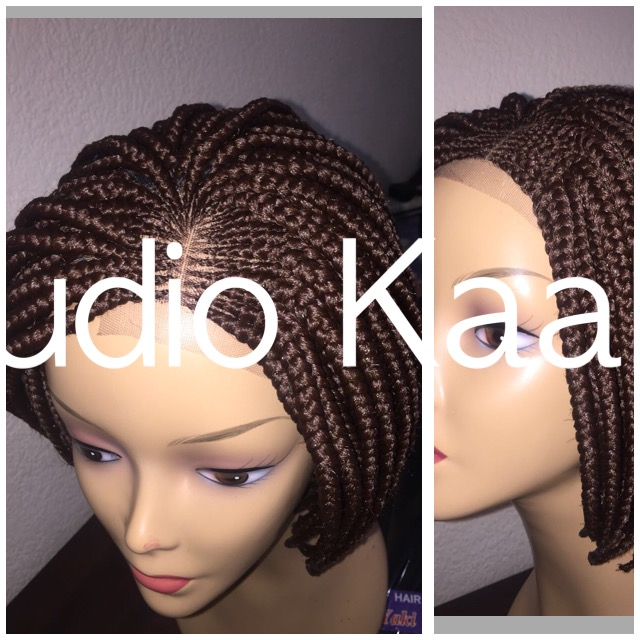 BEAUTIFUL SHORT LACE PART BRAID WIG CONTACT 0610713569