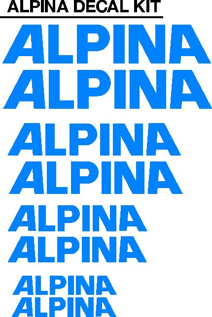 Alpina bicycle frame decals stickers vinyl graphics kits