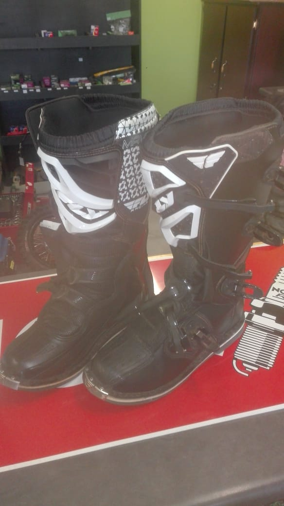 Second Hand Maverik Fly Racing Boots - Size 12