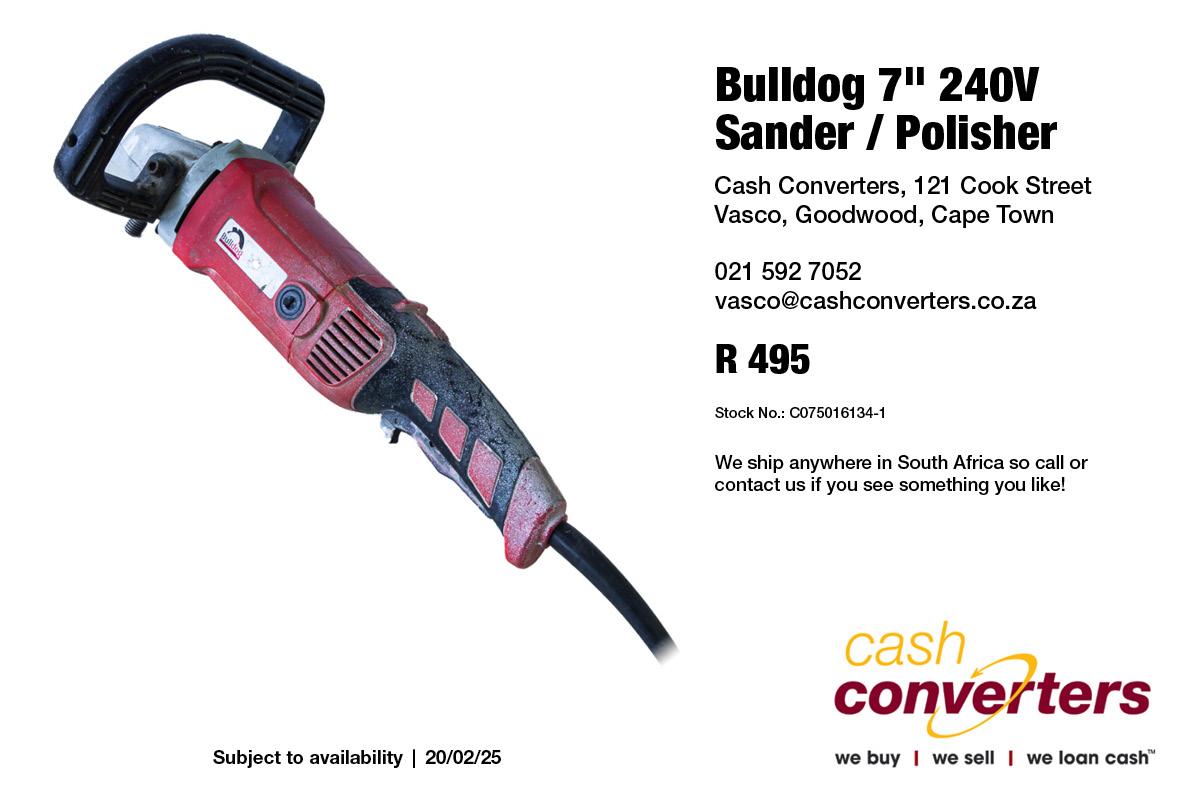 """Bulldog 7"""" 240V Sander / Polisher"""
