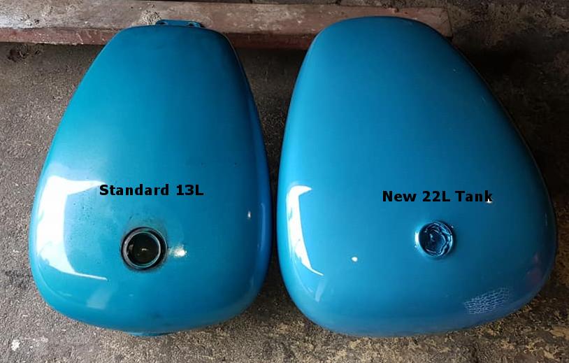 Suzuki Intruder Enlarged Fuel Tanks 22L/5.8gal as well as 27