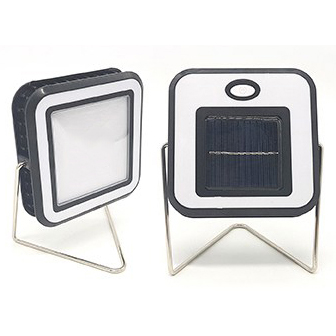 Solar rechargeable camping light