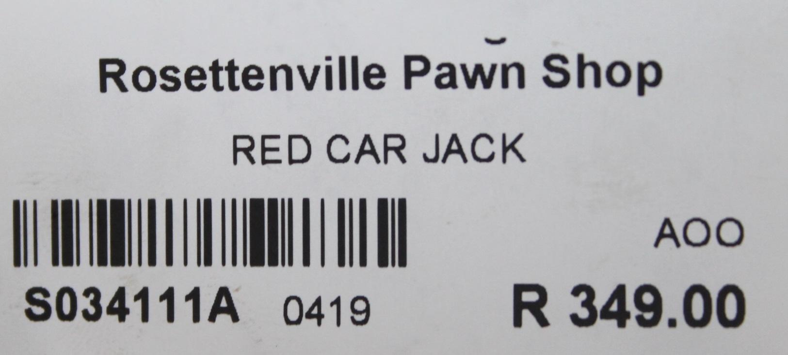 S034111A Red car jack #Rosettenvillepawnshop
