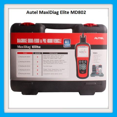 Autel MaxiDiag Elite MD802 OBD2 Scanner Car Diagnostic Tool Code Reader ABS Airbag Engine EPB