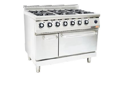 GAS STOVE WITH GAS OVEN ANVIL - 6 BURNER-COA3006