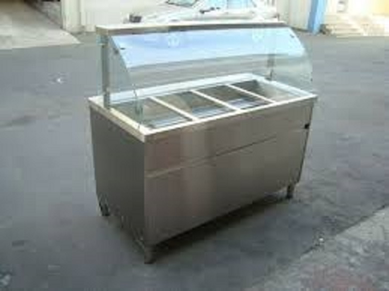 New Bain Marie Curve Glass (Excl Inserts) 3 Div(ALL EXCL VAT)