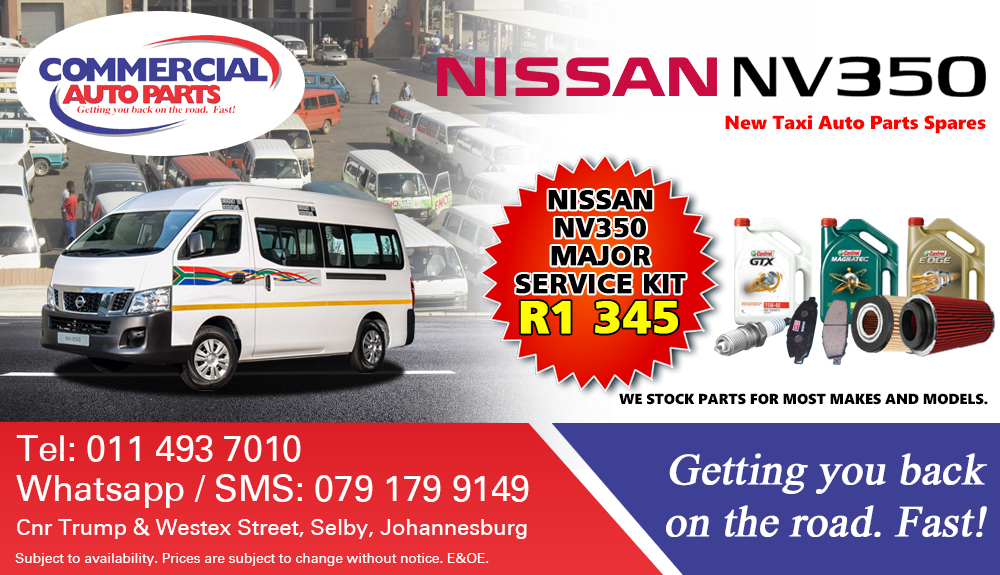 Service Kits For Nissan Nv350 Impendulo For Sale.