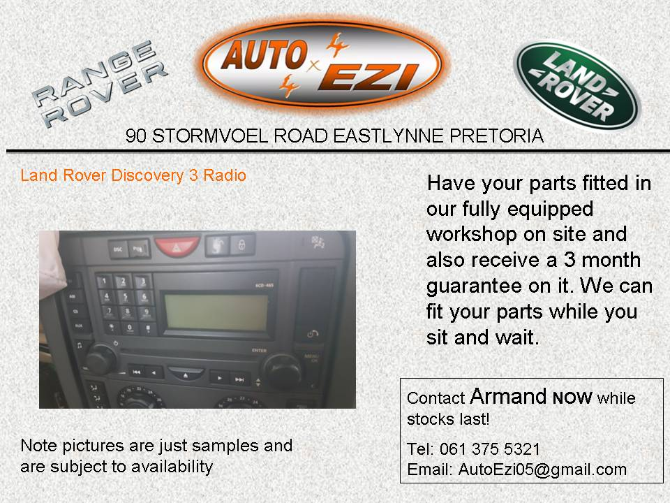 Land Rover Discovery 3 Radio