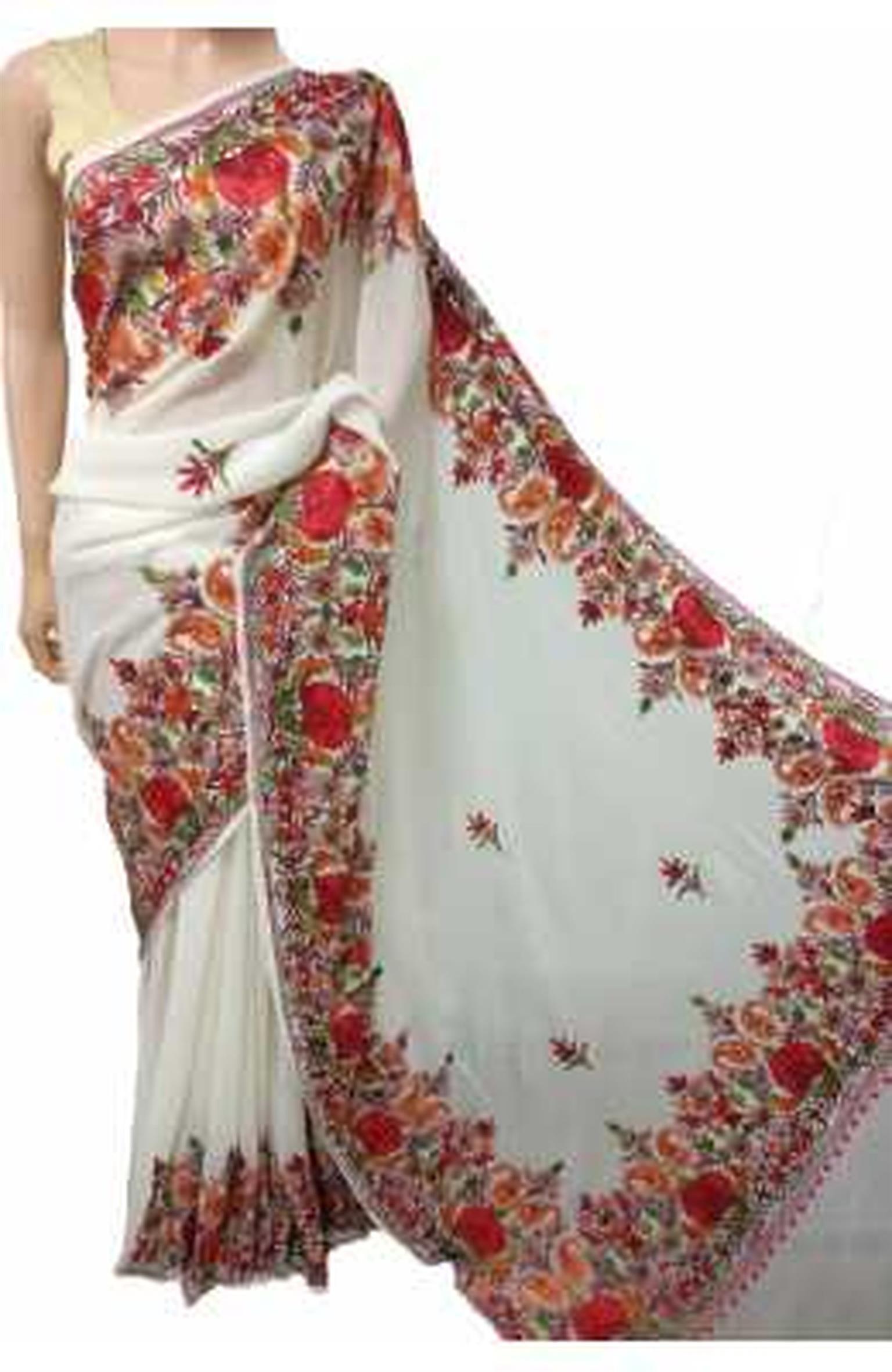 Buy the best Aari Work Saree in India | Luxurionworld