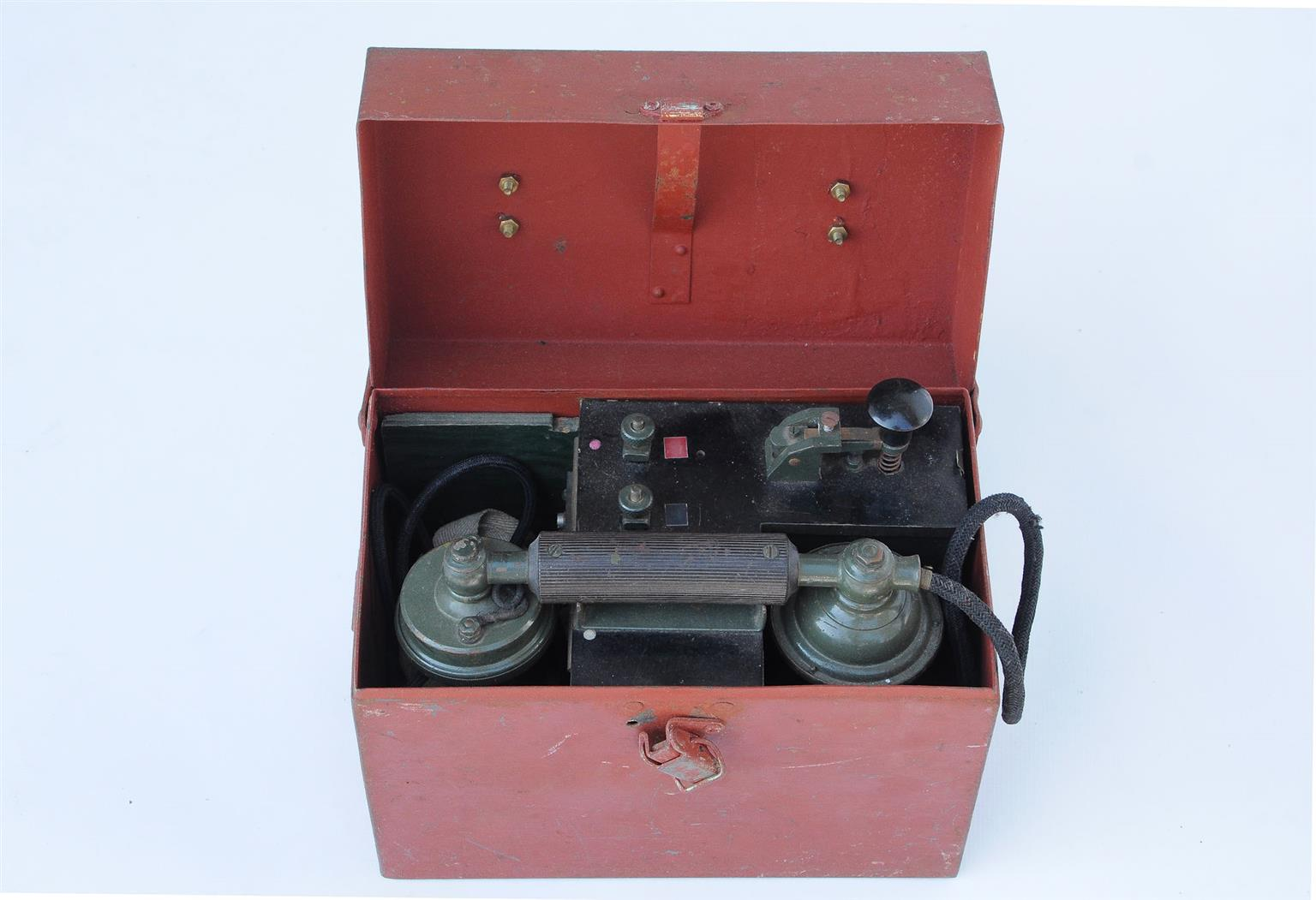 Pair of LM Ericsson ALLM.A.B Field Telephones - SKU 1590
