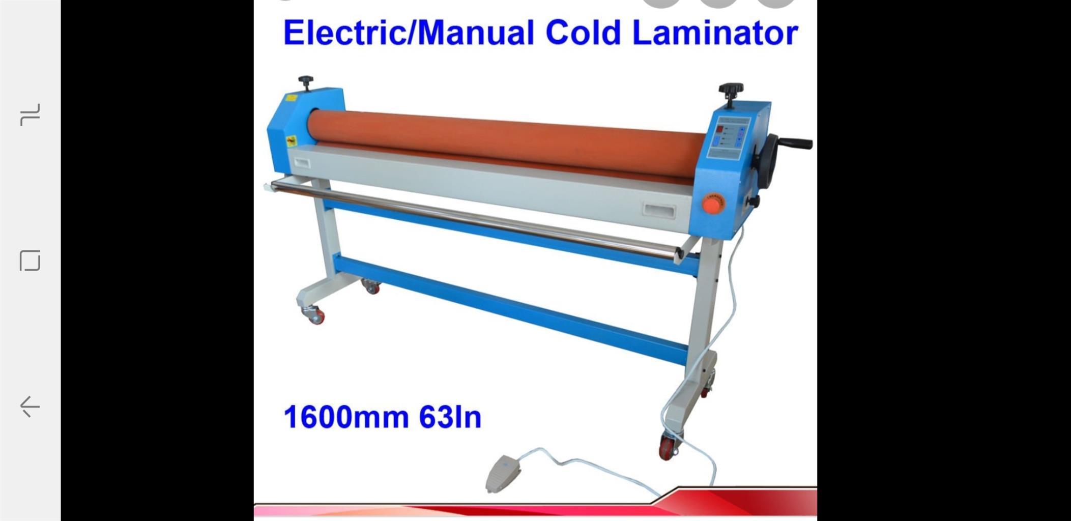 Cold Laminator 1600mm wide New Blue heavy duty Model PF1600M