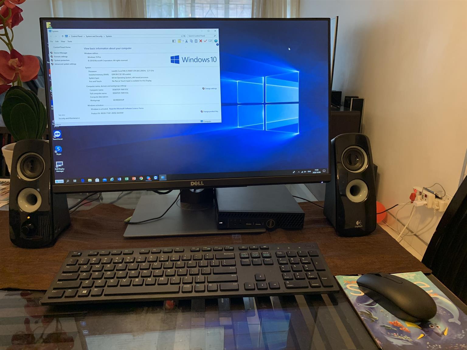 Dell OptiPlex 3070 MFF PC - Core i5-9500T / 8GB RAM / 256GB SSD / Win 10 Pro