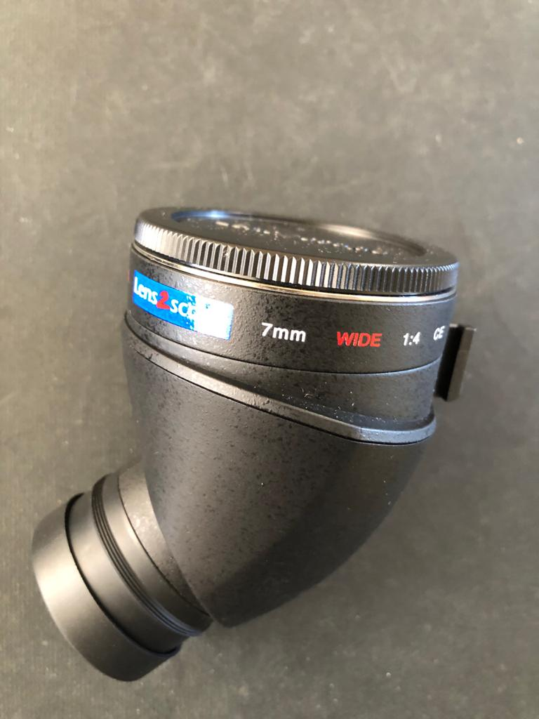 Kenko Lens2scope F Adapter Angled View for Canon mount