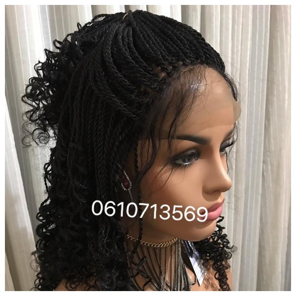 BEAUTIFUL BRADED LACE FRONTAL BRAID AND CORNROW WIGS 0610713569