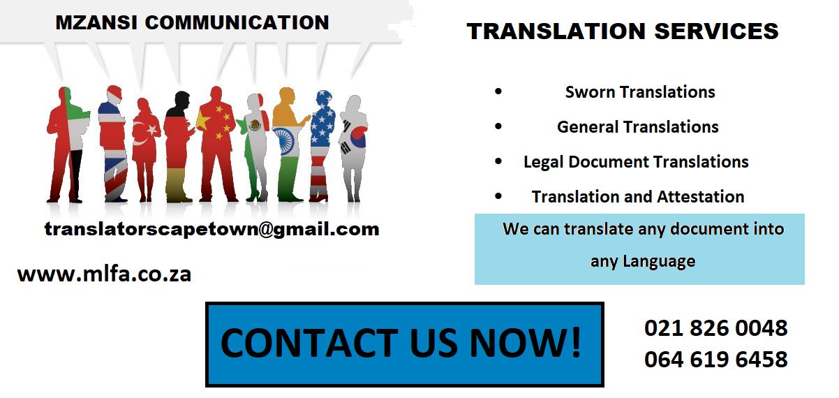 Sworn Portuguese Translation Services in Cape town