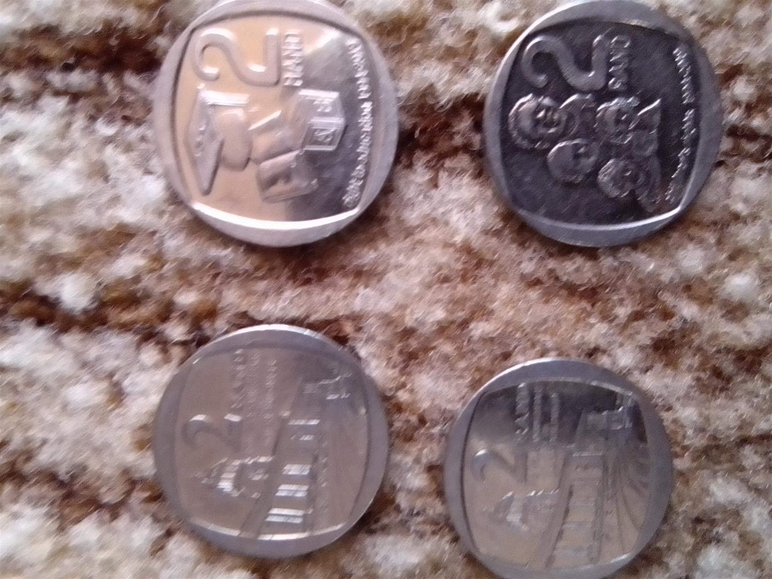 6 R5 coins and 12 R2 coins for sale,0676481796