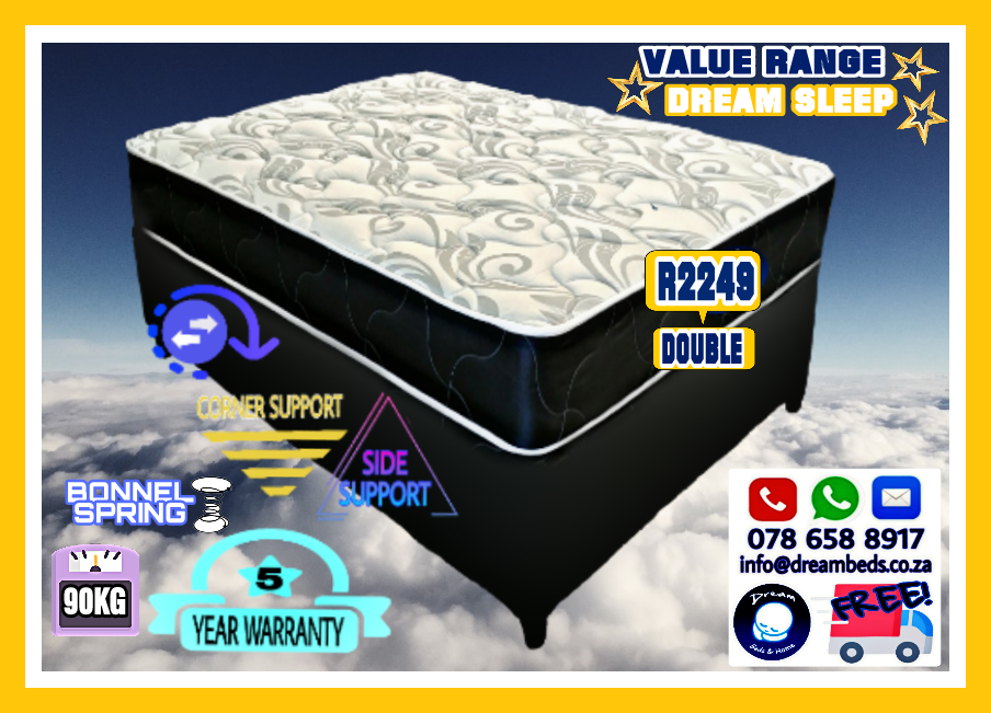 DOUBLE Luxury Sleep Bed Set - Special - FREE DELIVERY