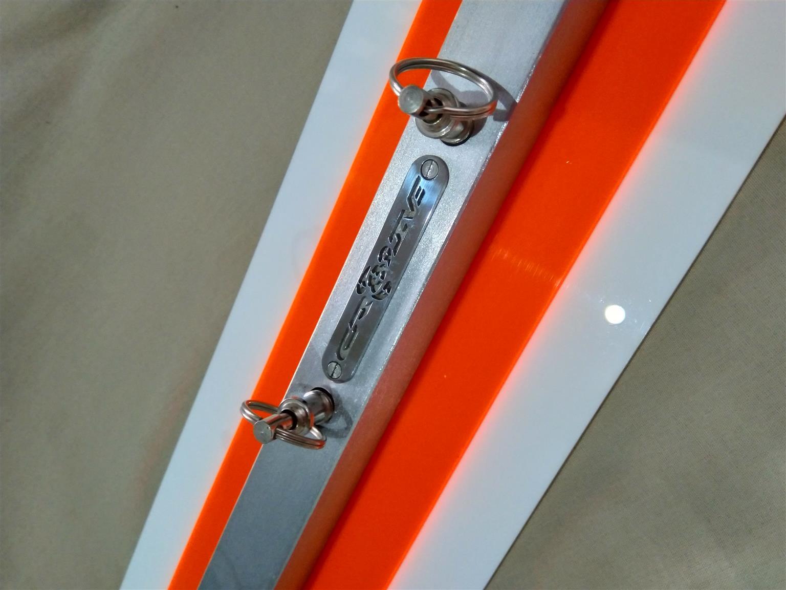 Modern Aluminum n Perspex key holo